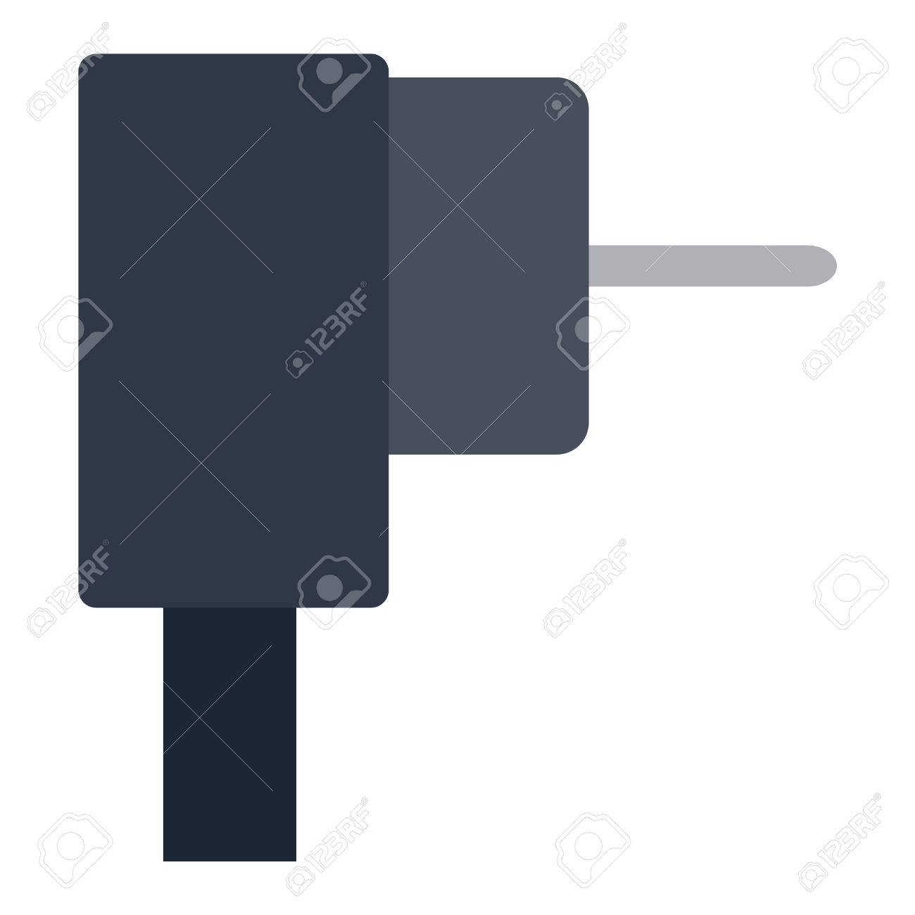 Steckdose Darstellung Auf Weißem Hintergrund. Energie Steckdose ...