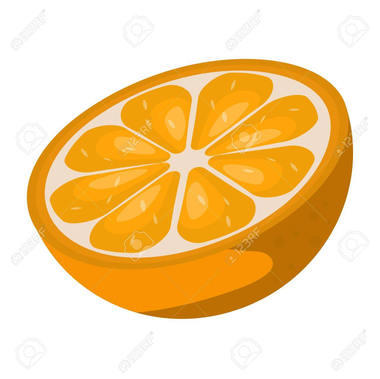 slice of fresh orange isolated on white background fruit orange rh 123rf com background vector orange orange vector free