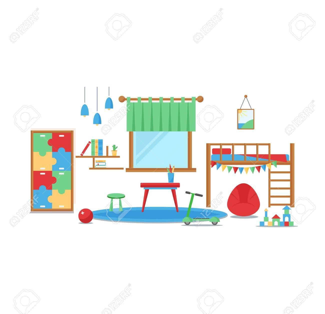 Kinder Schlafzimmer E | Horizontale Ansicht Der Gemutlichen Babyraumdekor Gemutliche Kinder