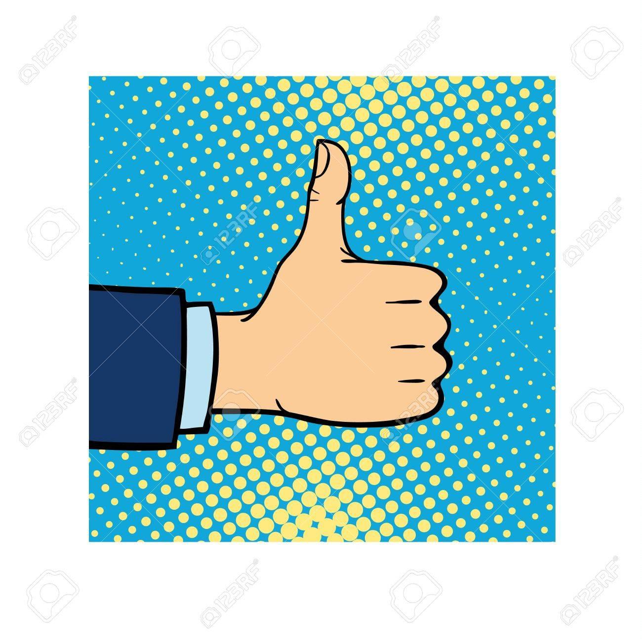 Like Hand Finger Up Sign Thumb Icon Symbol Success Community