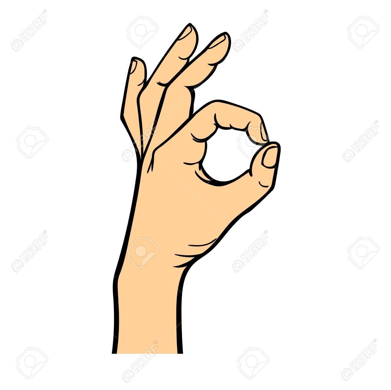 okey hand success symbol ok hand yes agreement ok hand signal