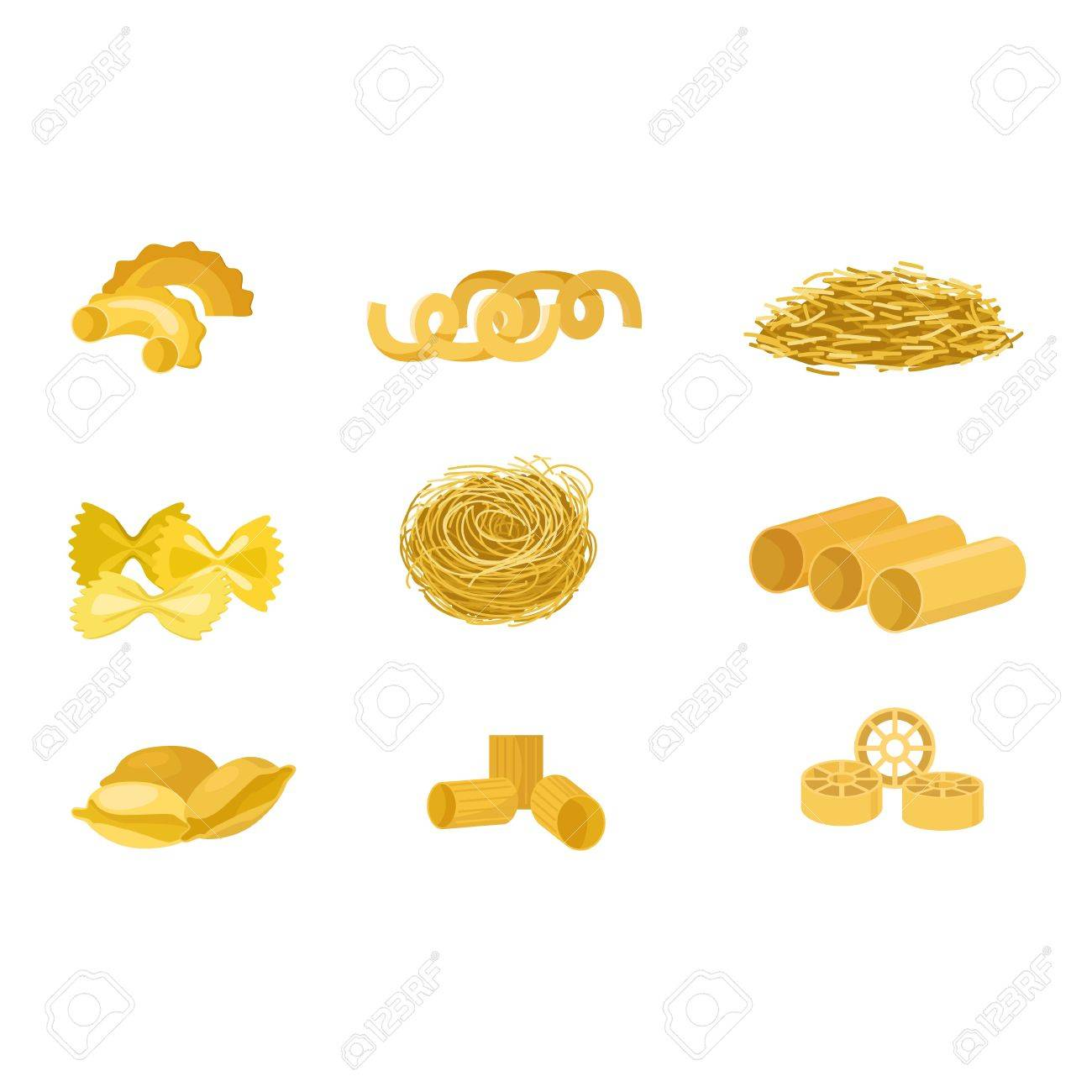 Different Types Of Pasta. Whole Wheat Pasta, Pasta, Corn, Rice ...