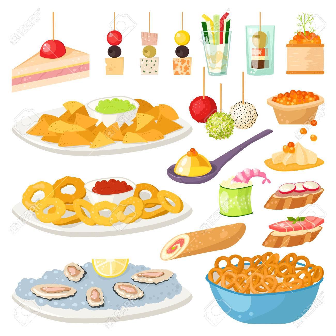様々 な肉魚およびチーズはバンケット宴会大皿軽食ですカナッペ
