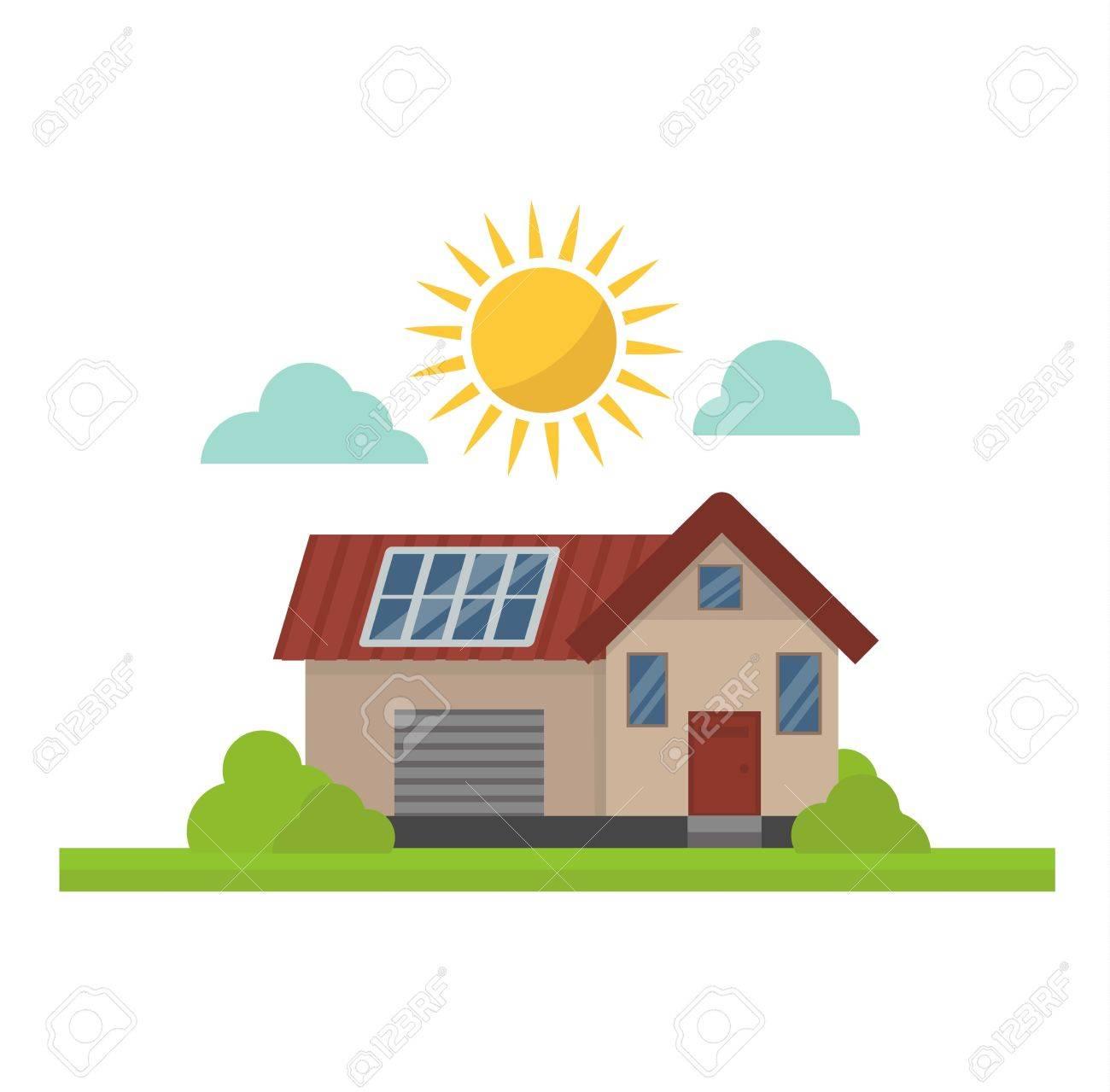 Perfect Standard Bild   Vektor Sonne Sonnenenergie Symbol. Sonne  Sonnenenergiesymbole Elektrizitätstechnologie Haus Erneuerbare Ökologie.