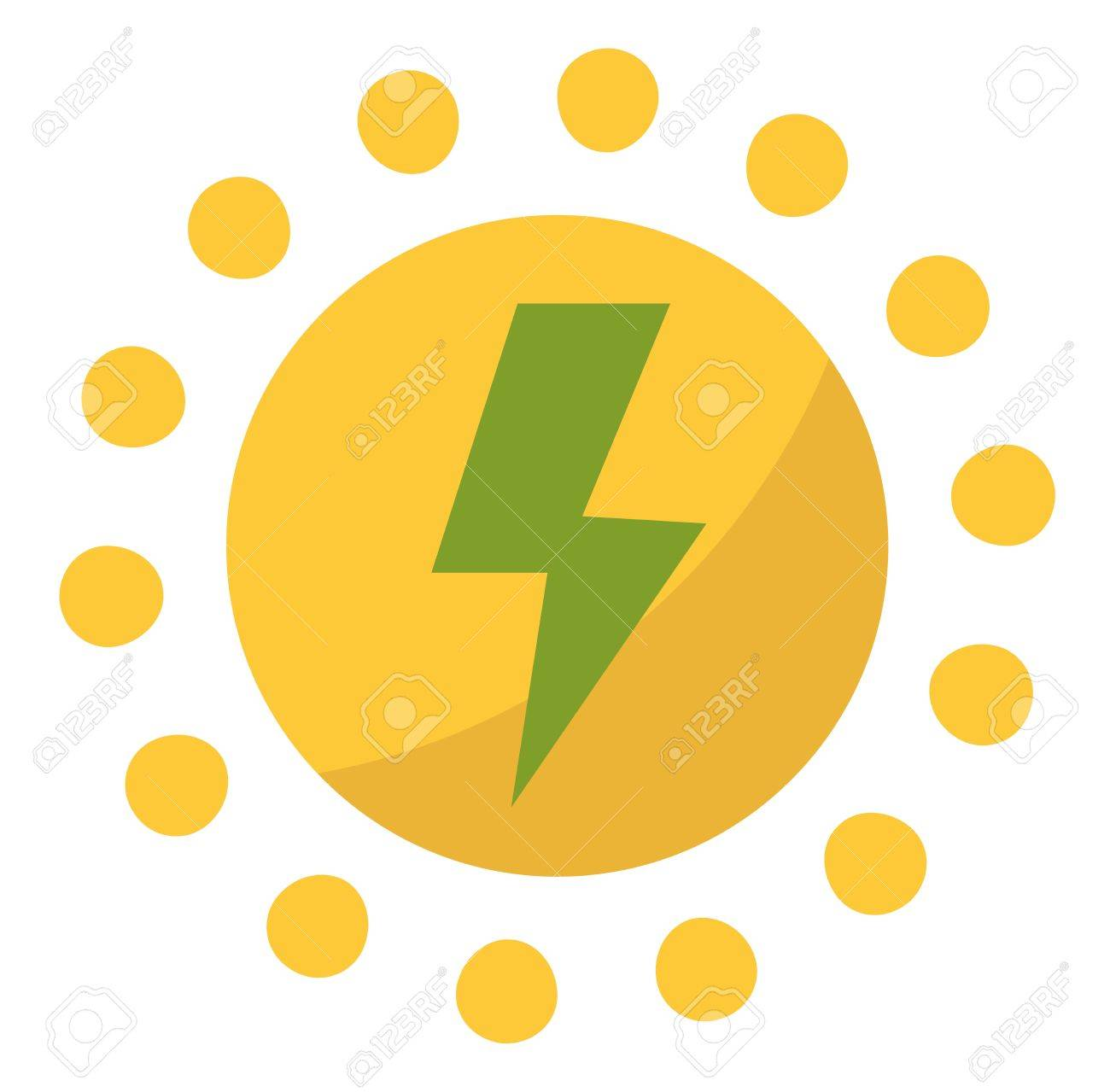 Vector Sun Solar Energy Icon Sun Solar Energy Symbols Electricity
