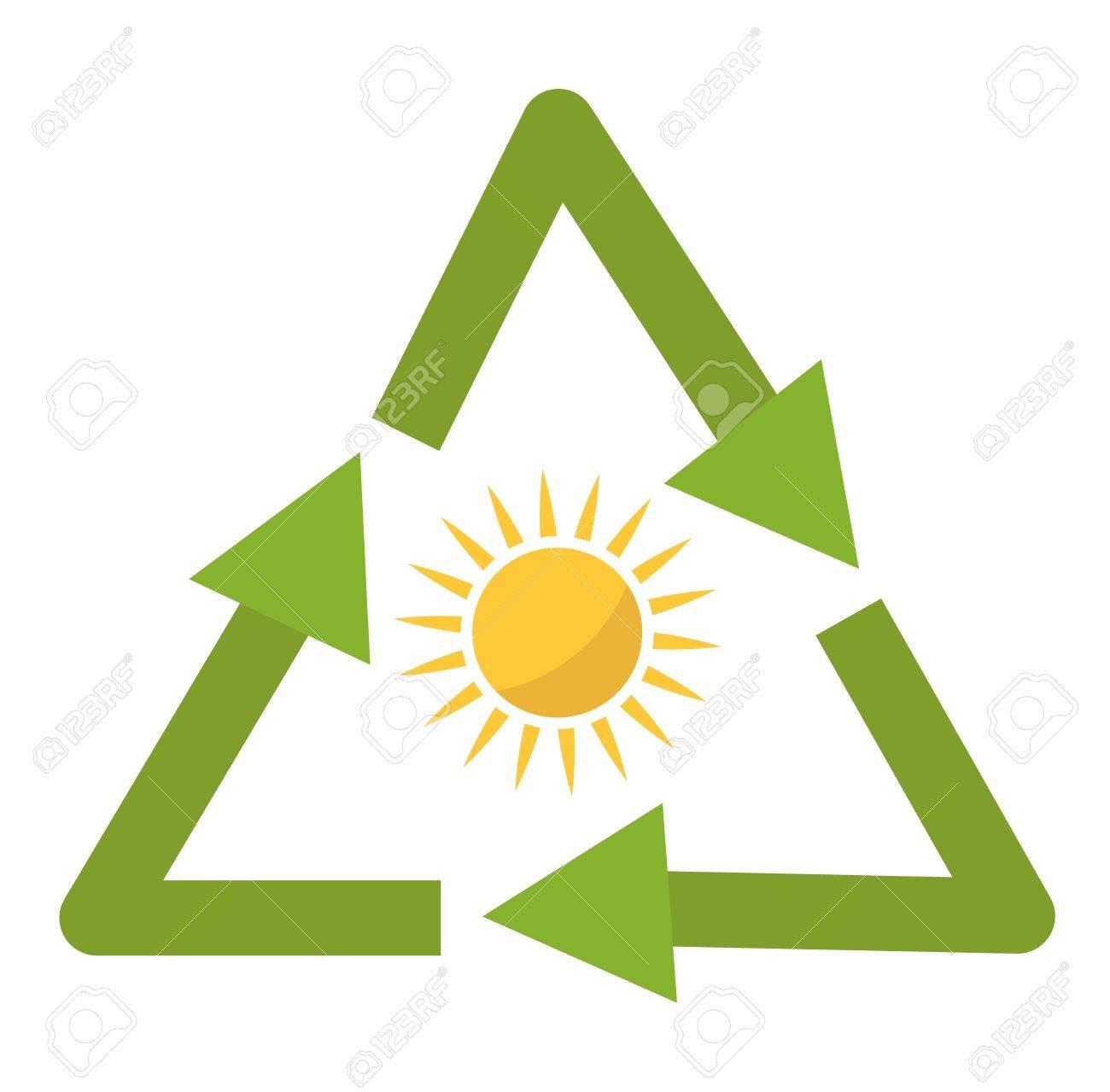 Vector Sun Solar Energy Icon. Sun Solar Energy Symbols Electricity ...
