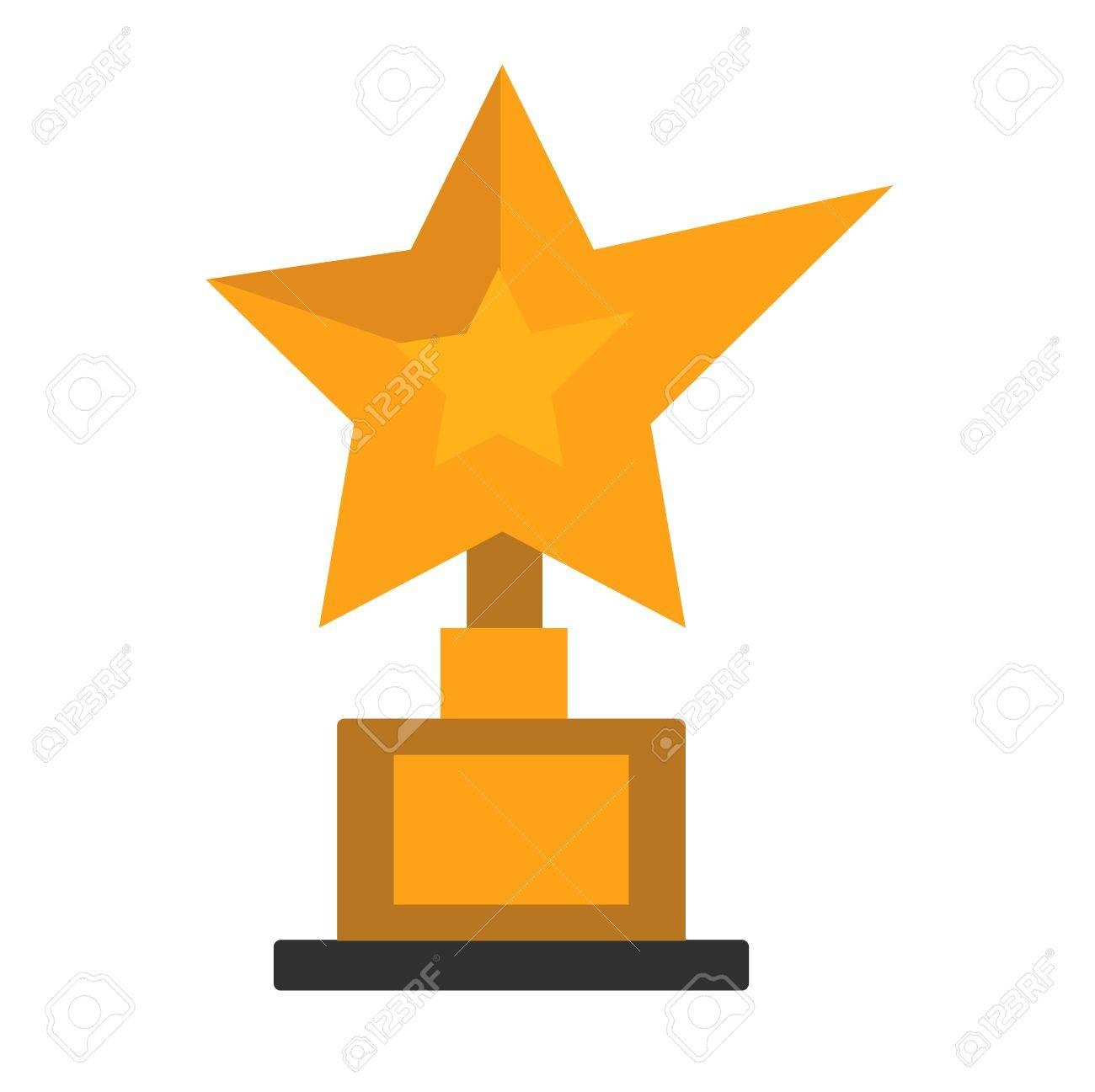 golden star award on white cinema winner gold symbol vector rh 123rf com Row of Gold Stars Clip Art Gold Glitter Star Clip Art