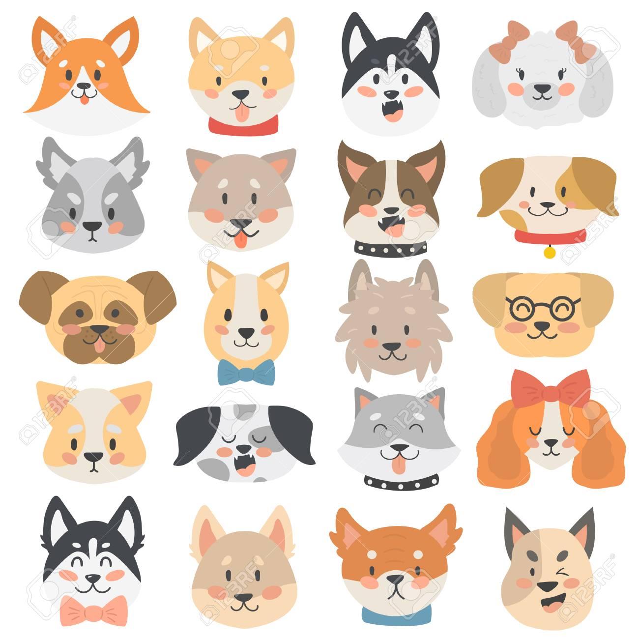 Barro Amasado Caras De Dibujos Animados Conjunto Pequeño Perro