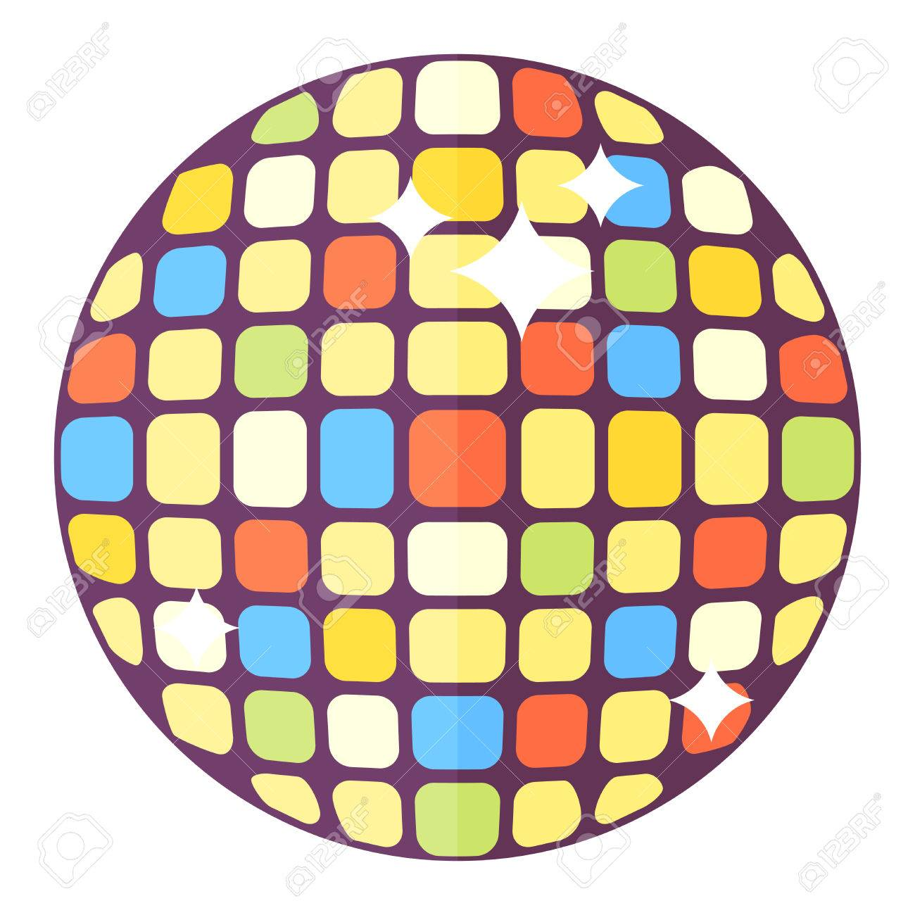 disco ball club sphere glitter retro nightlife vector illustration rh 123rf com disco ball vector download disco ball vector free download