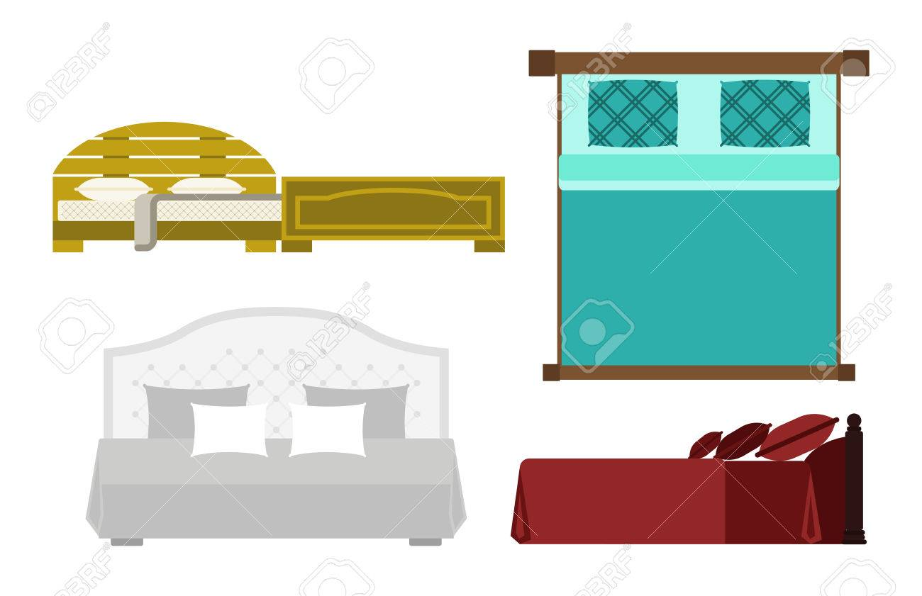 Exclusive Sleeping Furniture Design Bedroom With Aerial View Bed And  Interior Room Comfortable Home Relaxation Apartment