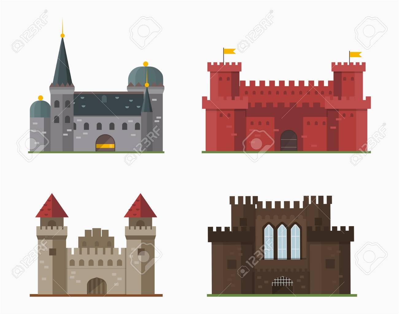Conto De Fadas Dos Desenhos Animados Torre Do Castelo Icone