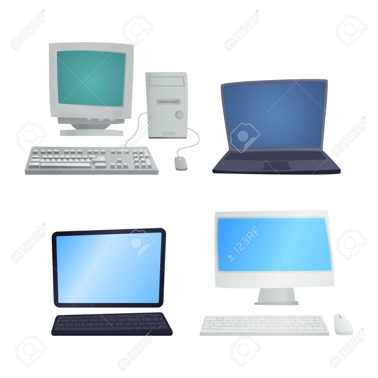 Retro computer item classic antique technology style business