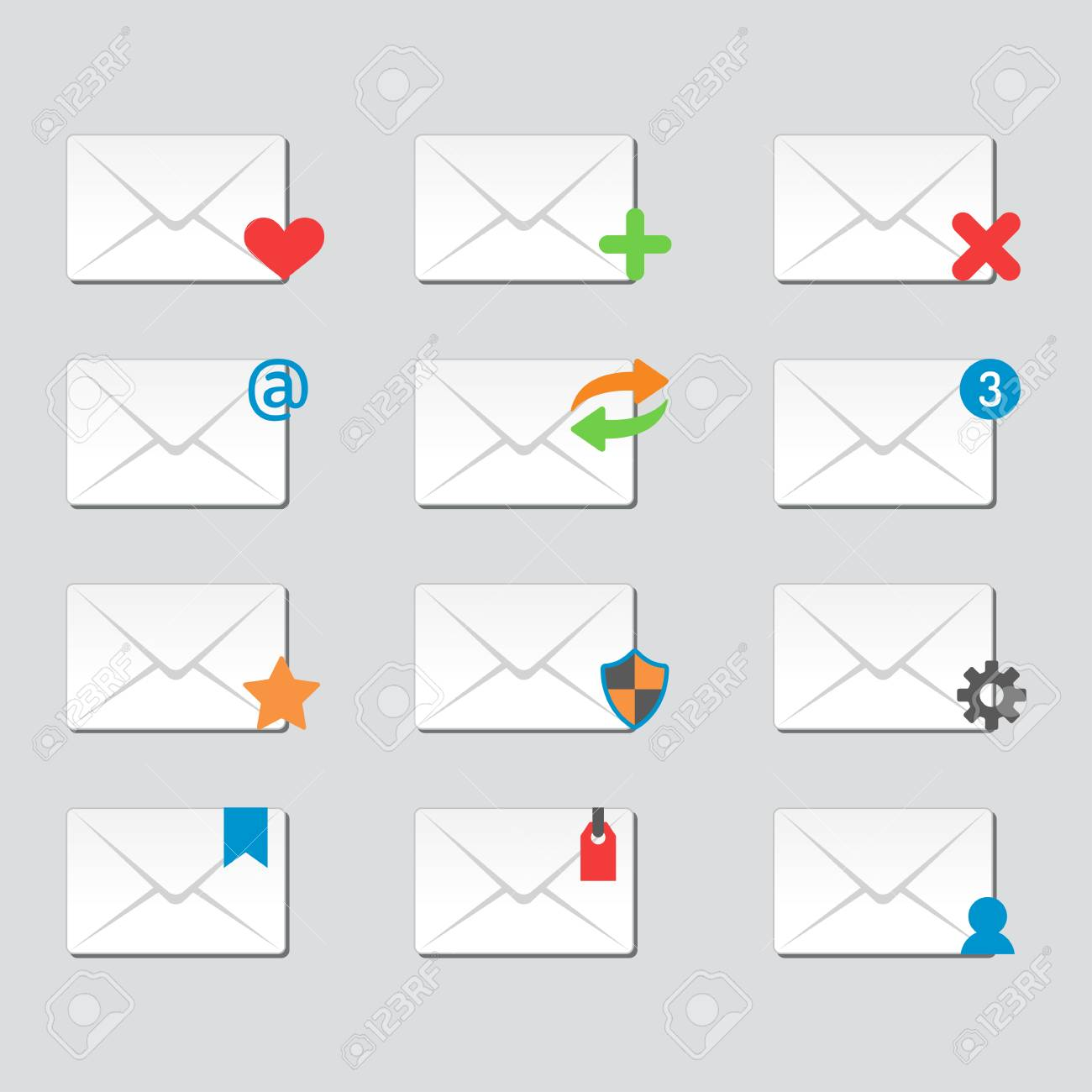 Email Umschlag Cover Icons Kommunikation Und Büro Korrespondenz