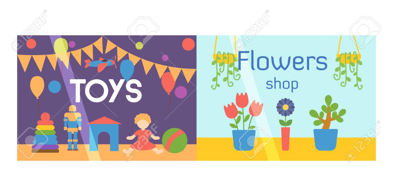Flat Design Showcase Restaurant Shop Facade Icon Store Modern Royalty Free Cliparts Vectors And Stock Illustration Image 75318545