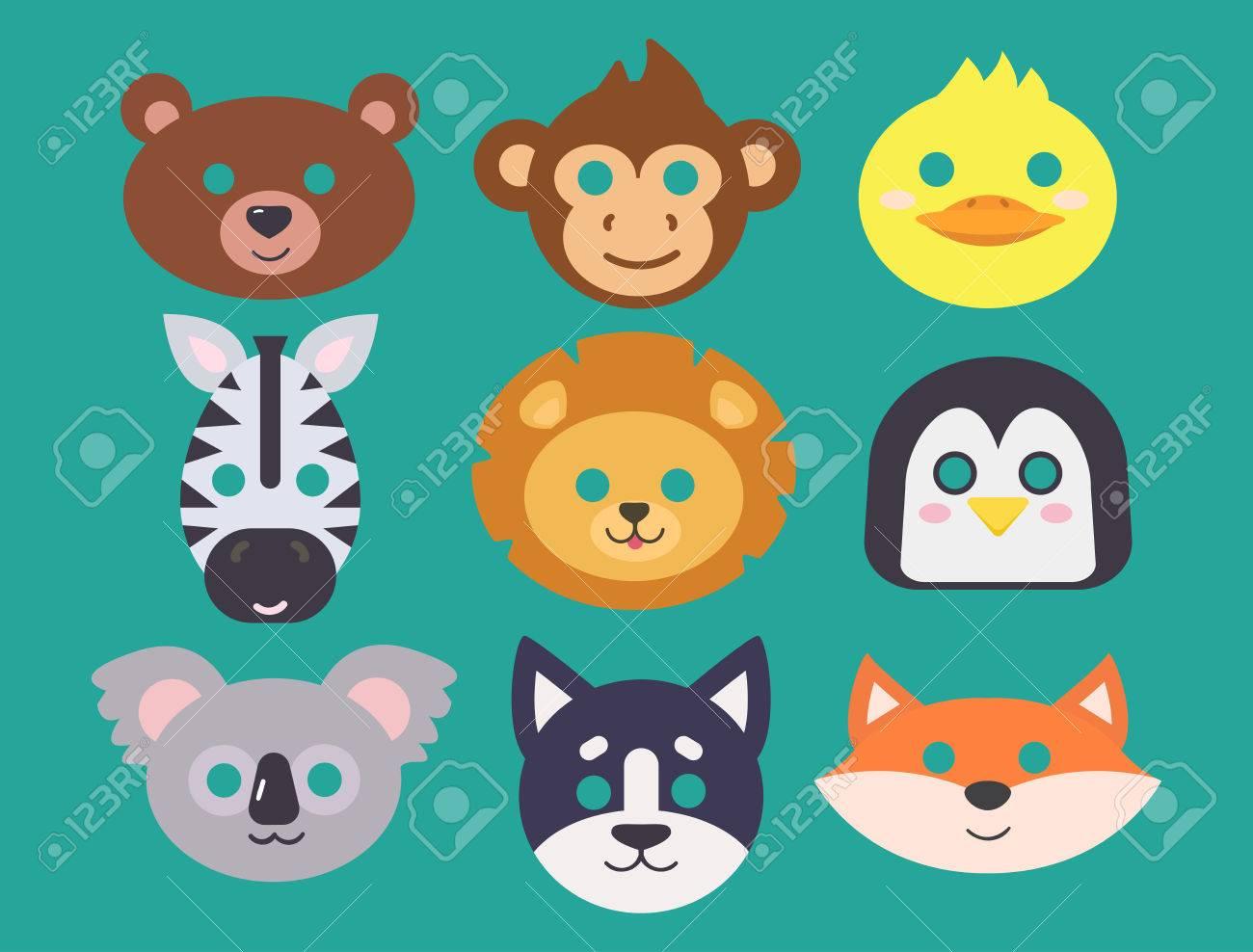 動物カーニバル マスク ベクトルをお祭りの装飾仮面舞踏会やパーティ衣装