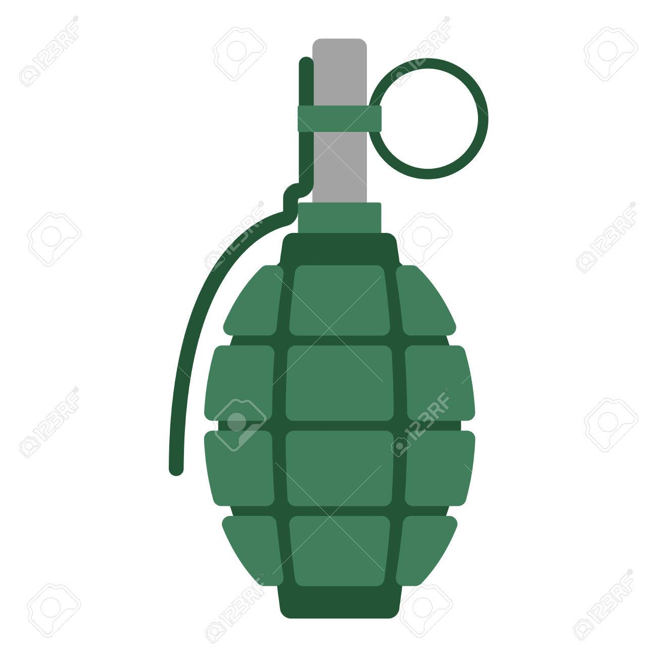 hand grenade bomb explosion weapons vector illustration royalty free rh 123rf com Hand Silhouette Open Hands Vector