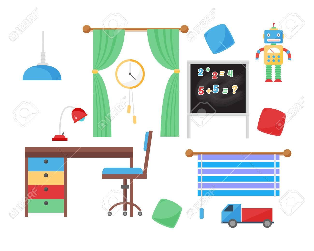 Comfortable cozy baby room decor children bedroom interior with..