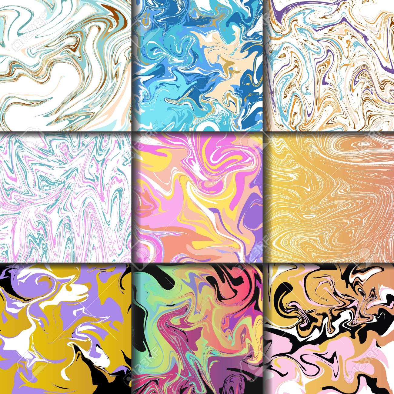 Abstrait Encre Textures Marbrure Dessines A La Main Peinture Aquarelle Pinceau Aqua Papier Et Soie Imprime Illustration Vectorielle Clip Art Libres De Droits Vecteurs Et Illustration Image 79986639