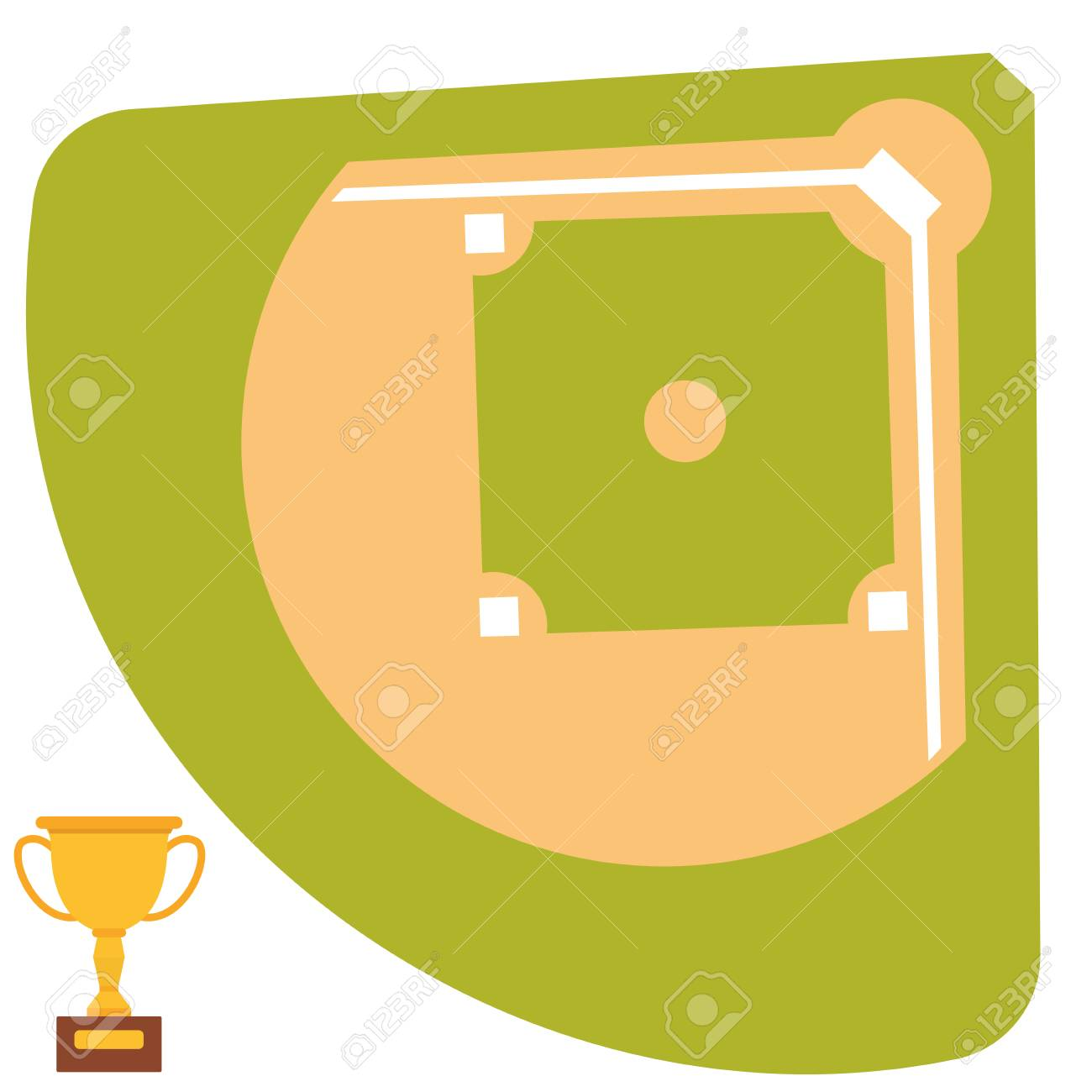 baseball field cartoon icon batting design american game athlete rh 123rf com cartoon baseball field images Cartoon Baseball Player