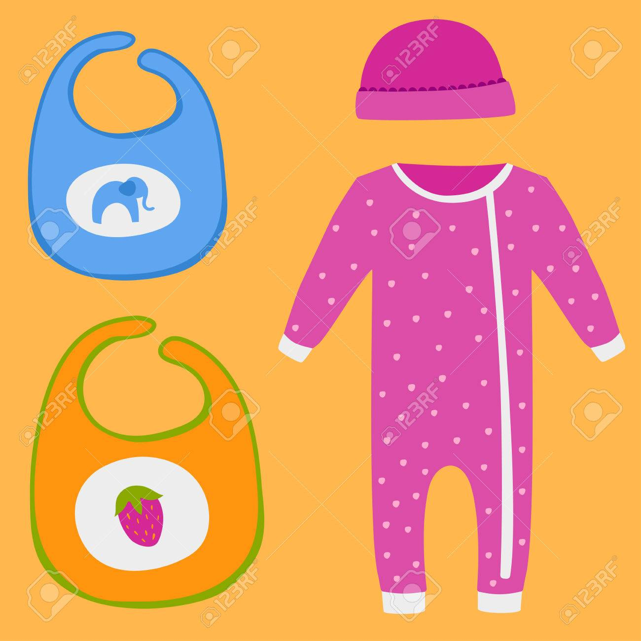 a8b6b743a Vector - Vector baby clothes icon set design textile casual fabric colorful  dress child garment wear illustration.