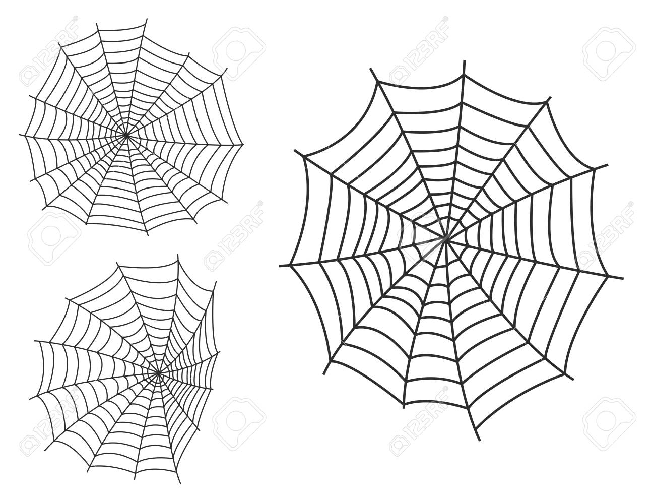 Spider web silhouette arachnid fear graphic flat scary animal design nature insect danger horror vector icon. - 87062319