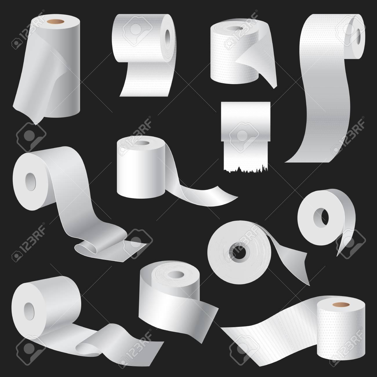 Realistische Toilettenpapier Und Küchentuch Roll Vorlage Mock-up-Set ...