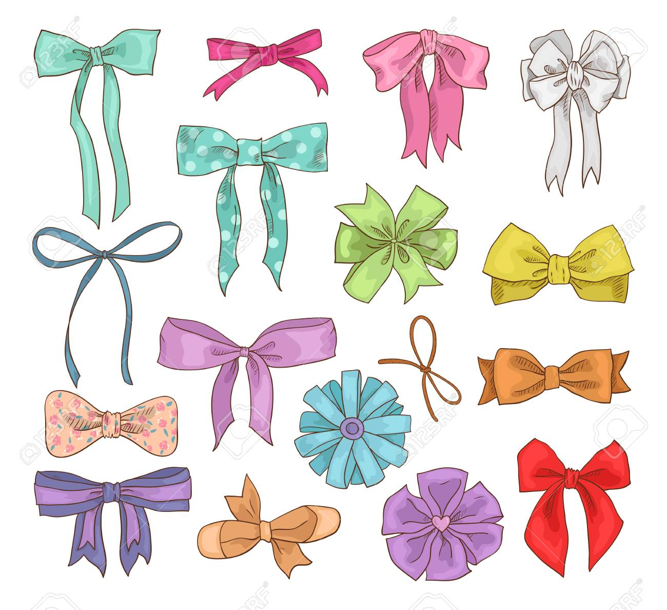 1cb0cb3cca87c Girls bow vector girlish bow knot or girly ribbon on hair or..