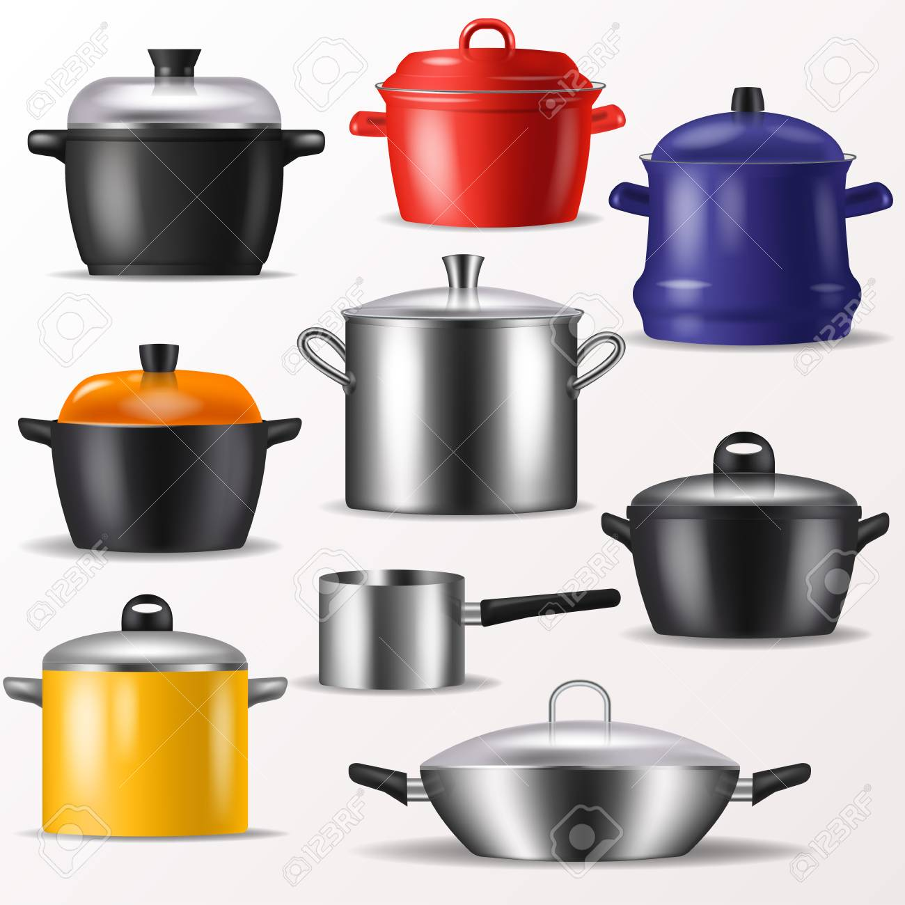 Pan Vector Kitchenware Or Cookware For Cooking Food And Kitchen