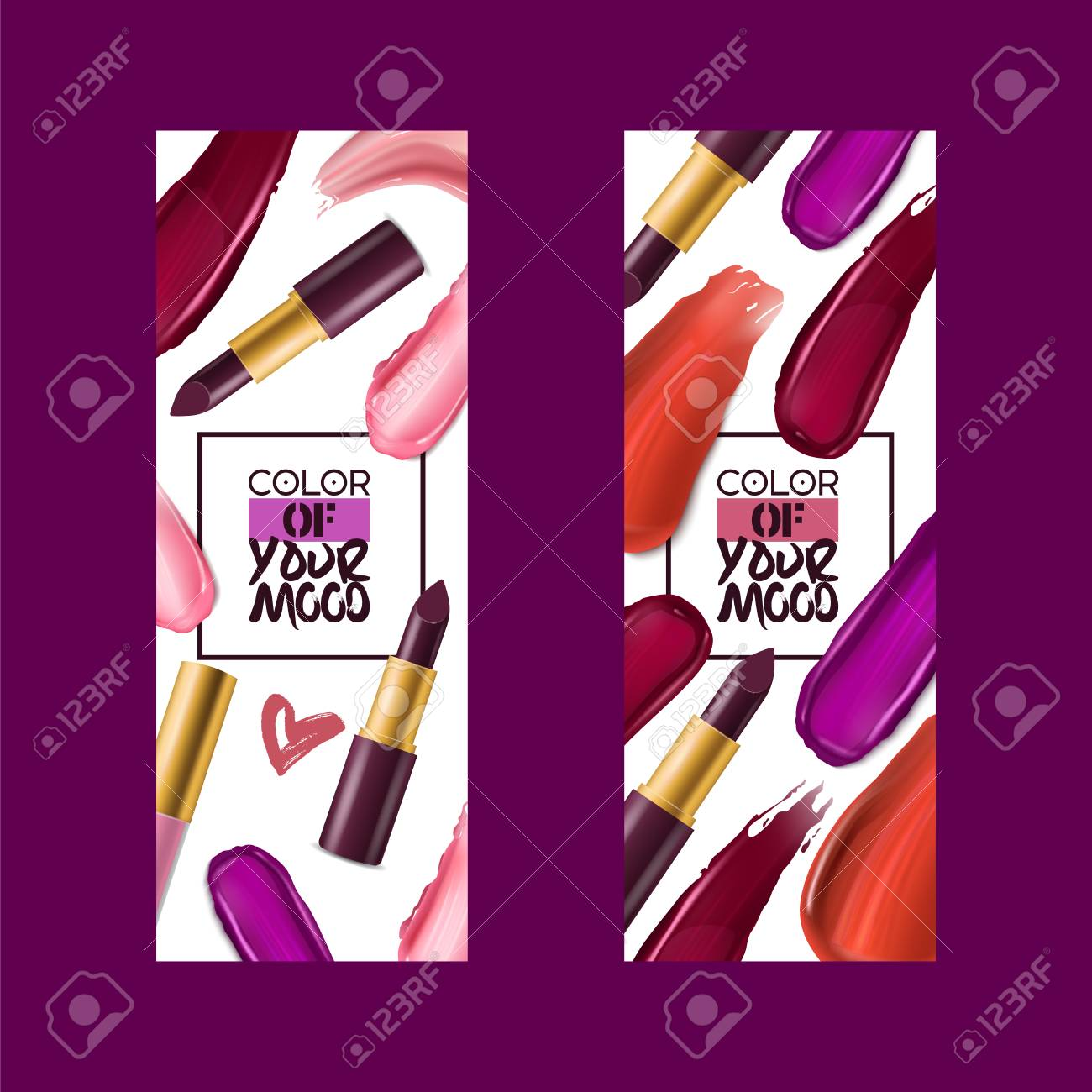 Lipstick Pattern Vector Beautiful Red Color Fashion Pink Lipgloss Royalty Free Cliparts Vectors And Stock Illustration Image 126067638