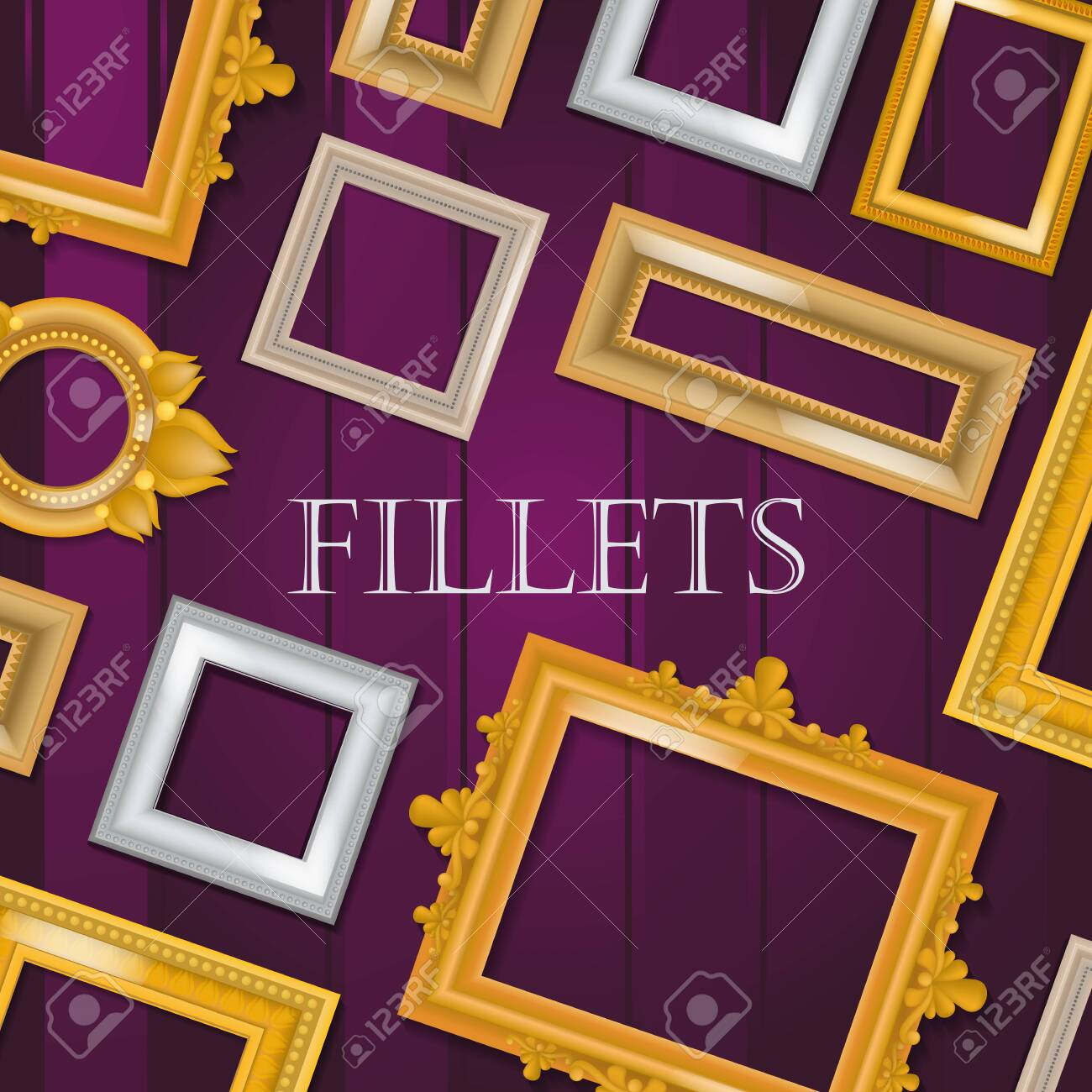 Picture Framing Banner Flyer Poster Vector Illustration Online Royalty Free Cliparts Vectors And Stock Illustration Image 124064678