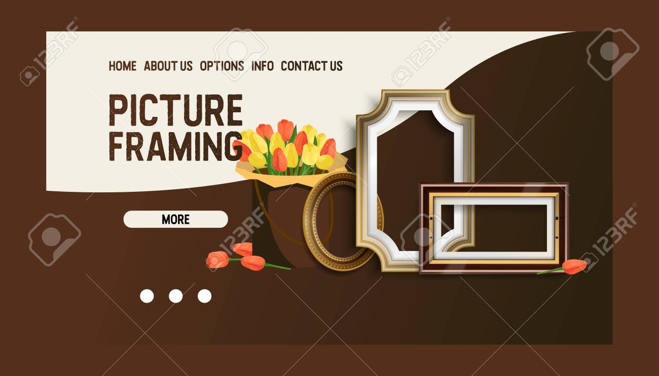 Picture Framing Banner Web Design Vector Illustration Online Royalty Free Cliparts Vectors And Stock Illustration Image 123795384