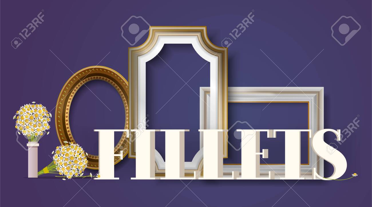 Picture Framing Banner Poster Vector Illustration Online Shopping Royalty Free Cliparts Vectors And Stock Illustration Image 123795388