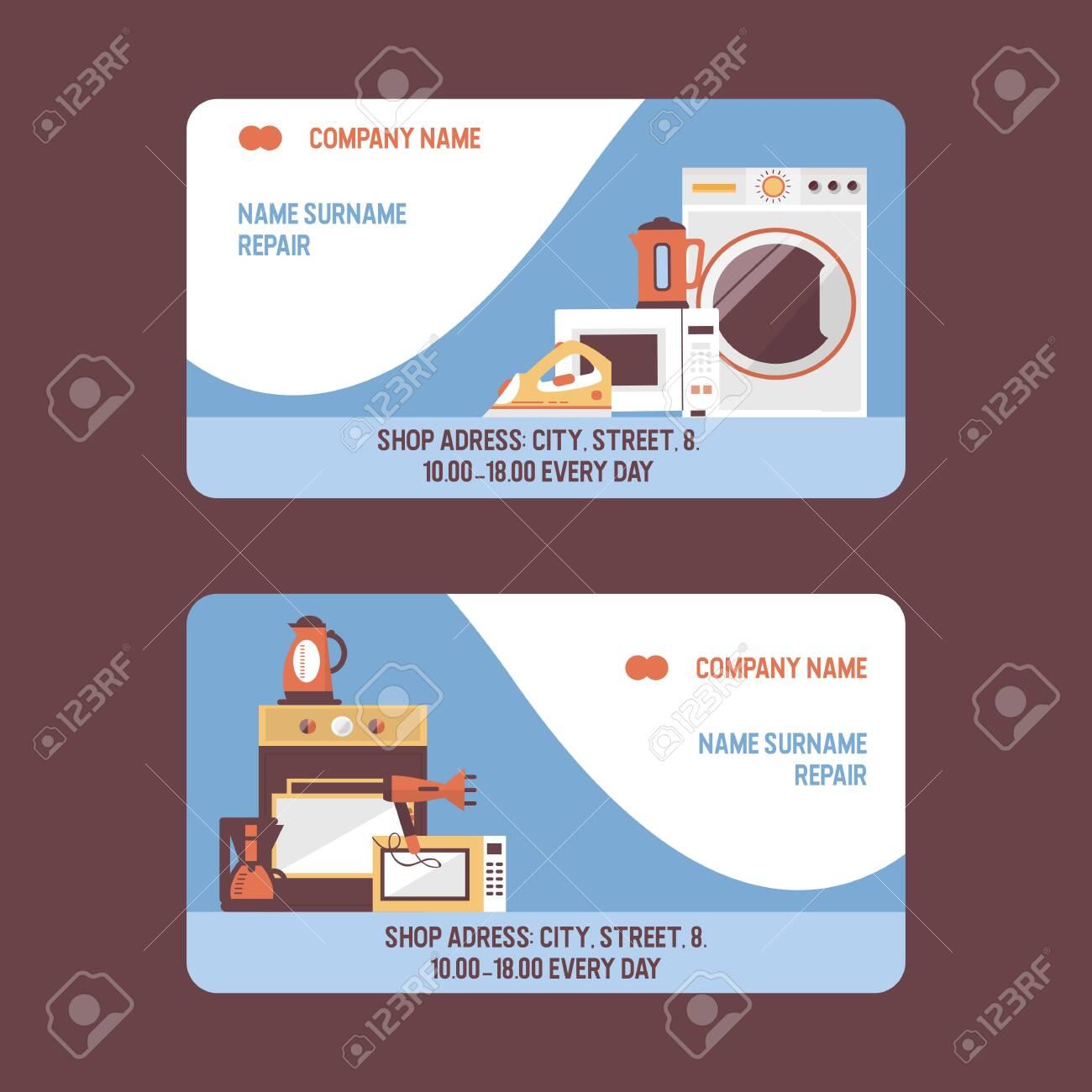 Service repairment vector visiting card  Repair of electric household