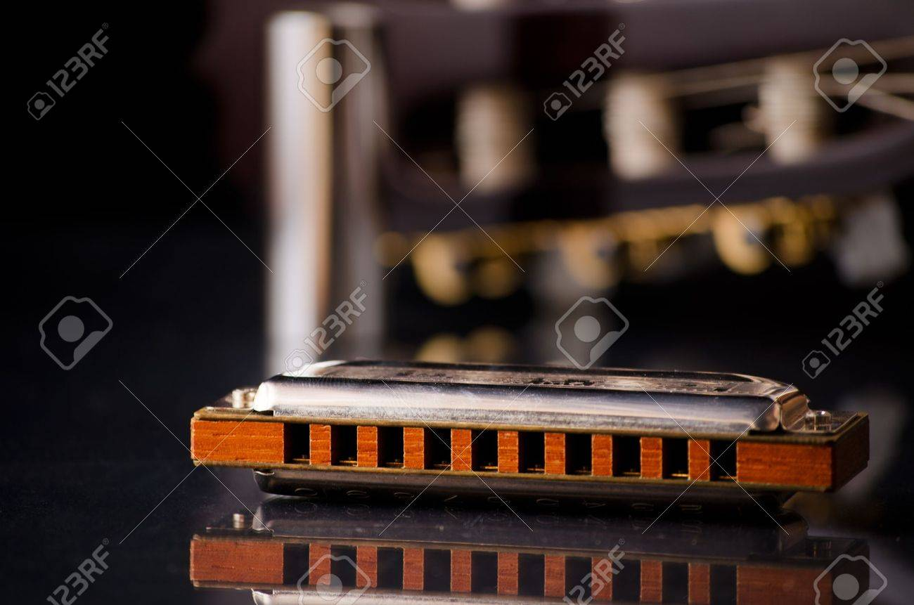 Harmonica blues Stock Photo - 8998253