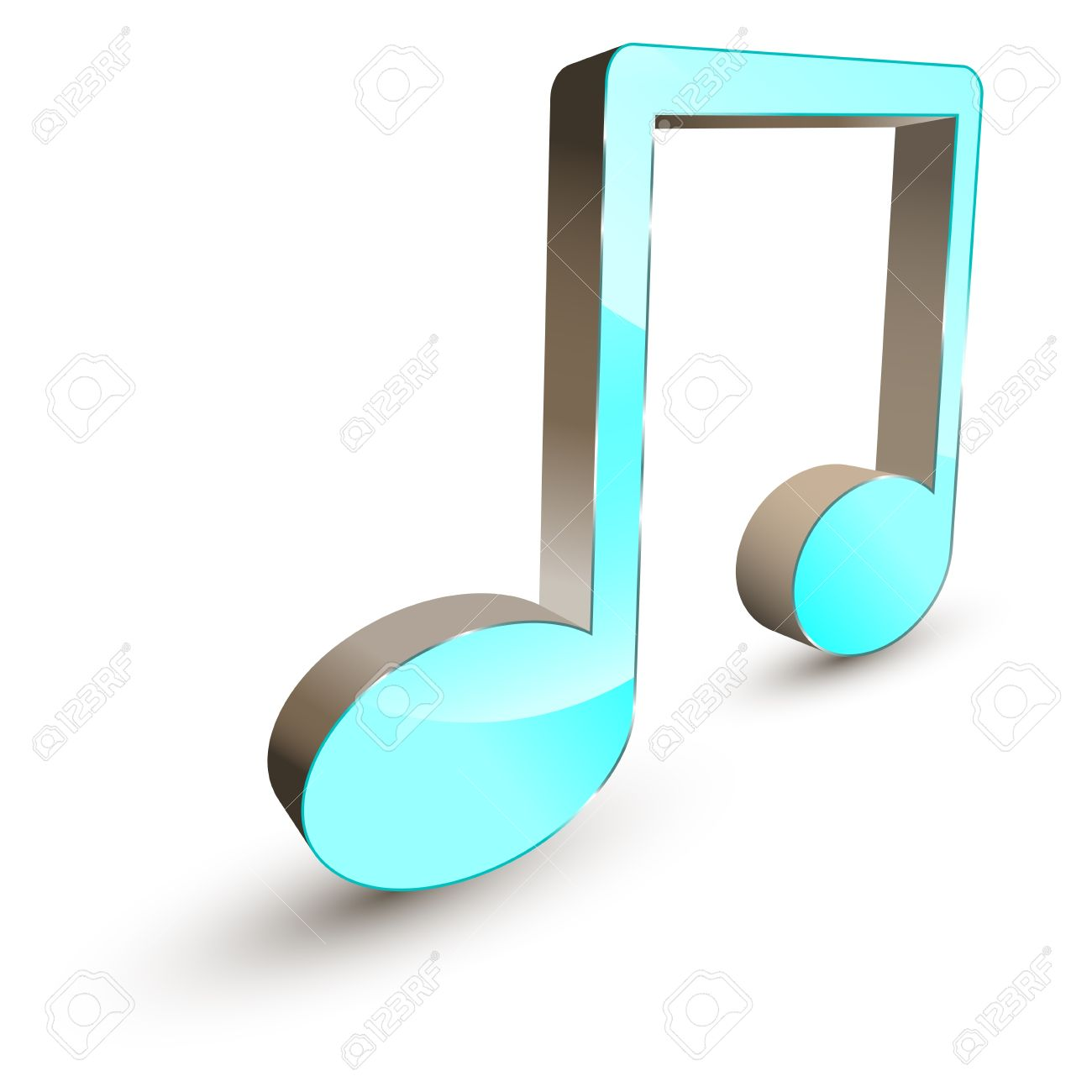 3d Music Note Symbol Royalty Free Cliparts Vectors And Stock