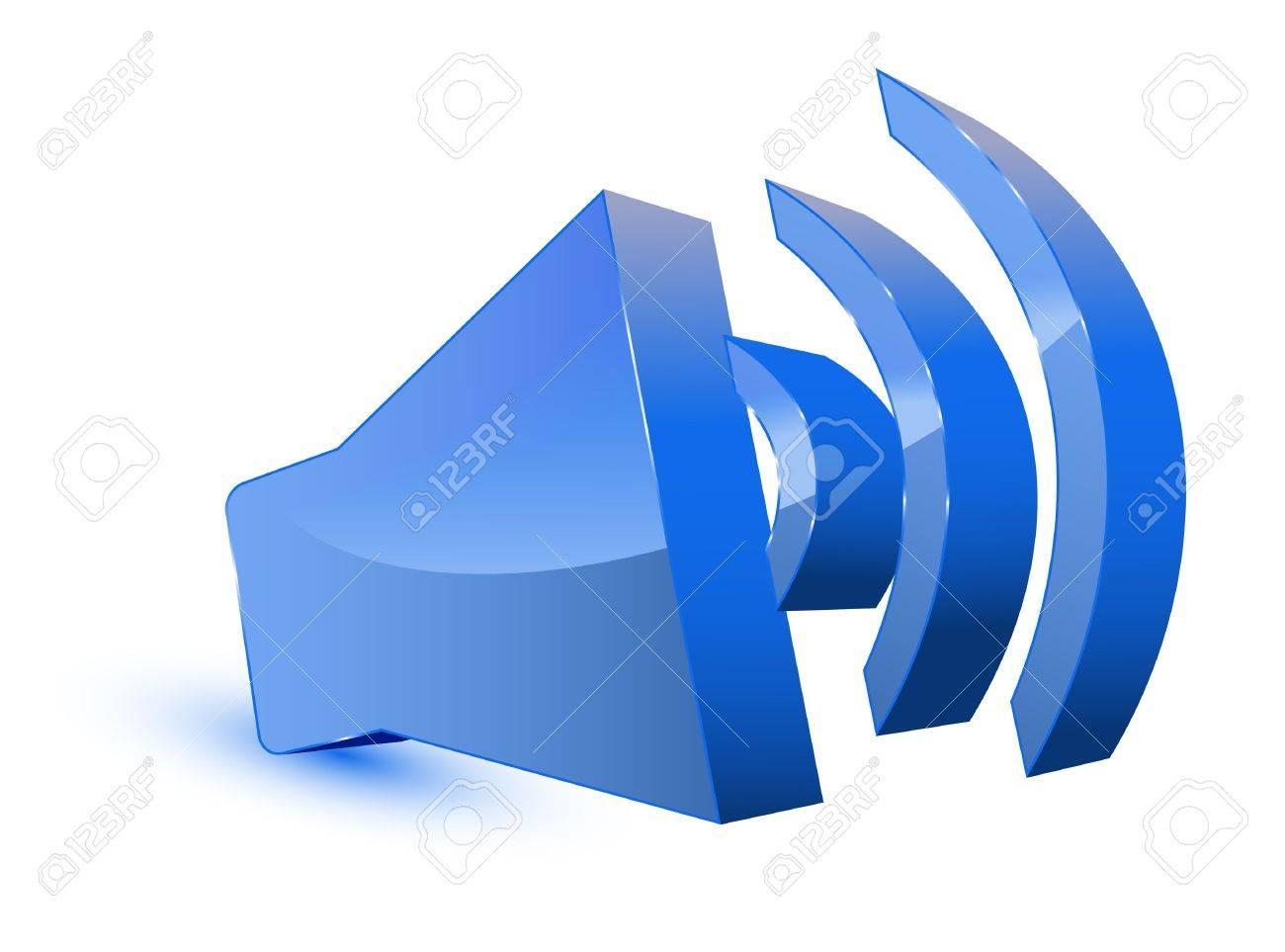 3d audio speaker symbol Stock Vector - 11501576