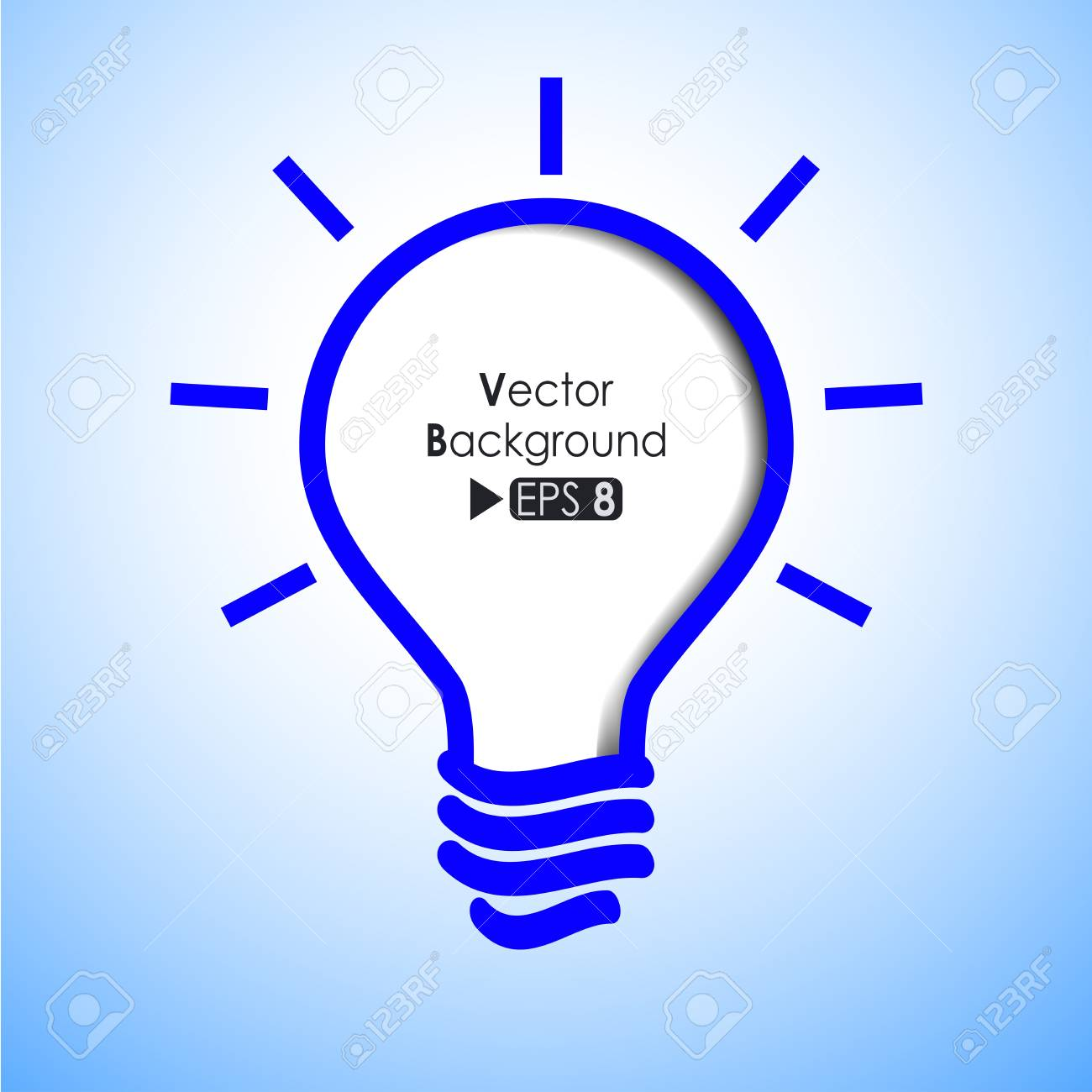 Blue light bulb abstract background Stock Vector - 14087750