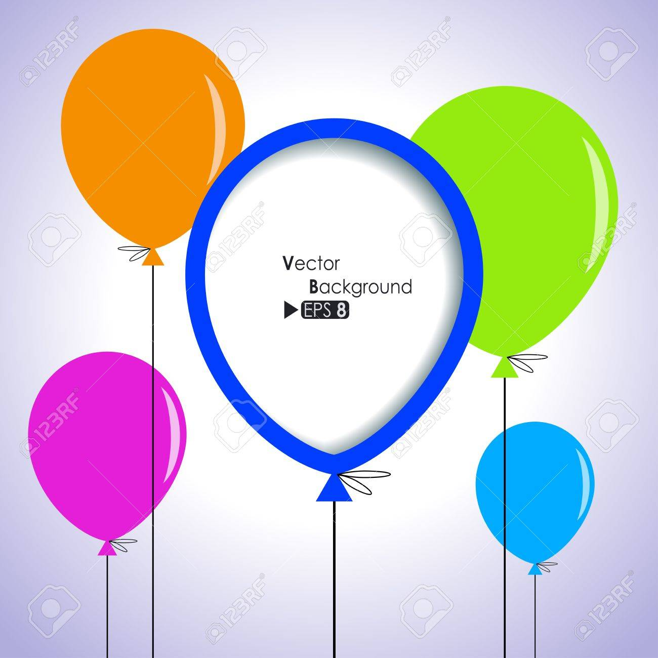 Colorful balloons Stock Vector - 14087746