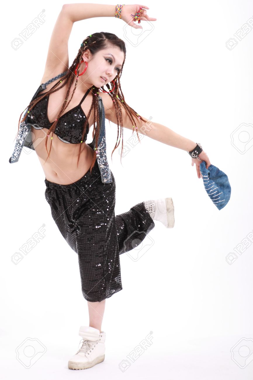 c1c3dc05e Cute girl in various dance costumes and fun poses. Stock Photo - 15289673