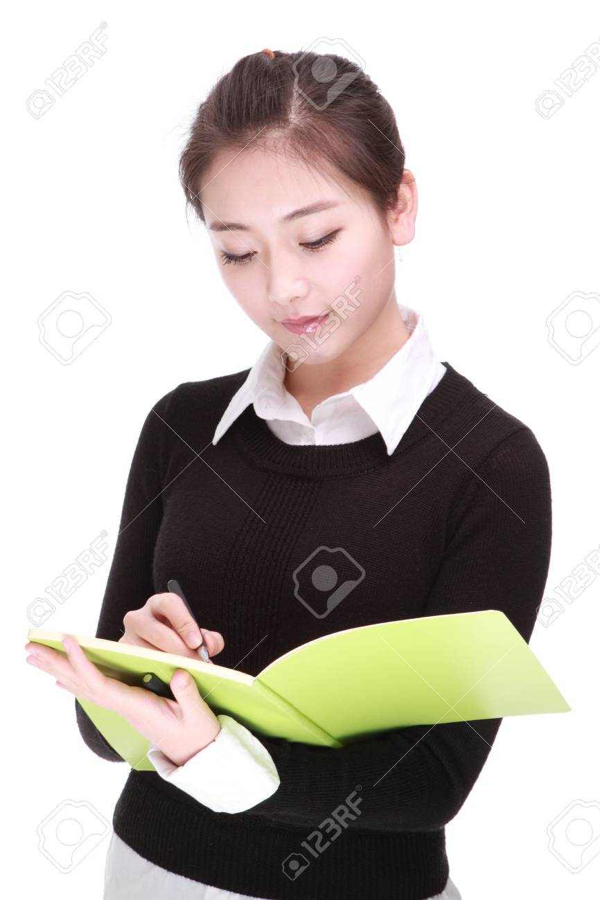 young businesswoman with pen Stock Photo - 17284211