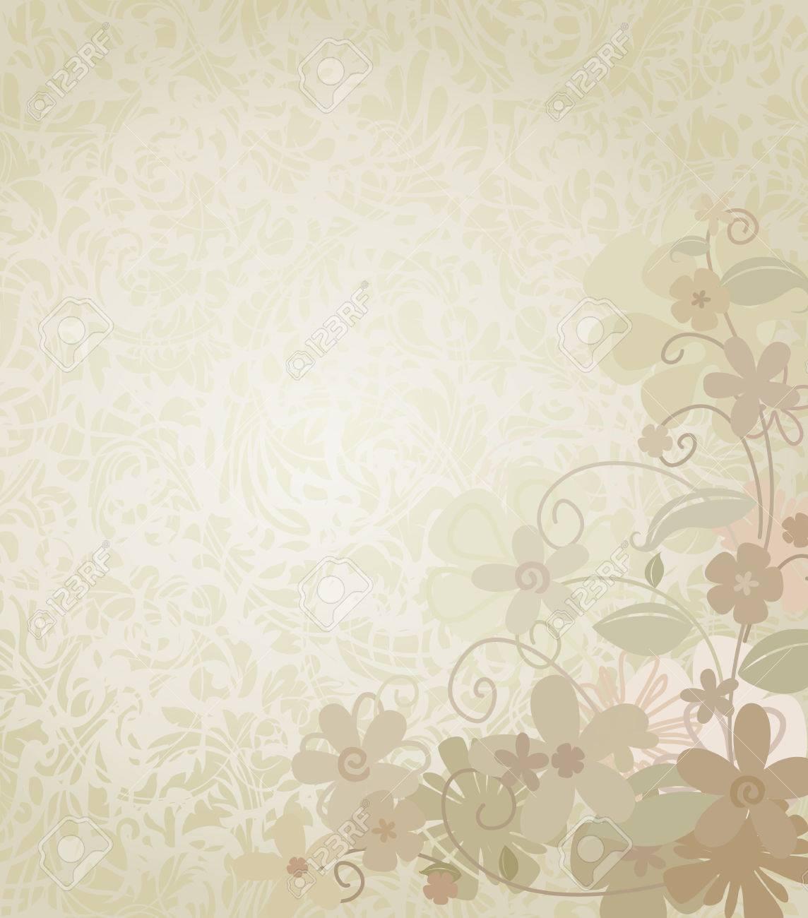 Standard Bild   Vintage Hintergrund Rahmen Mit Corner Border Blumen. Floral  Grenze Und Hintergrund. Die Blüten Verblassen Schön In Den Hintergrund.