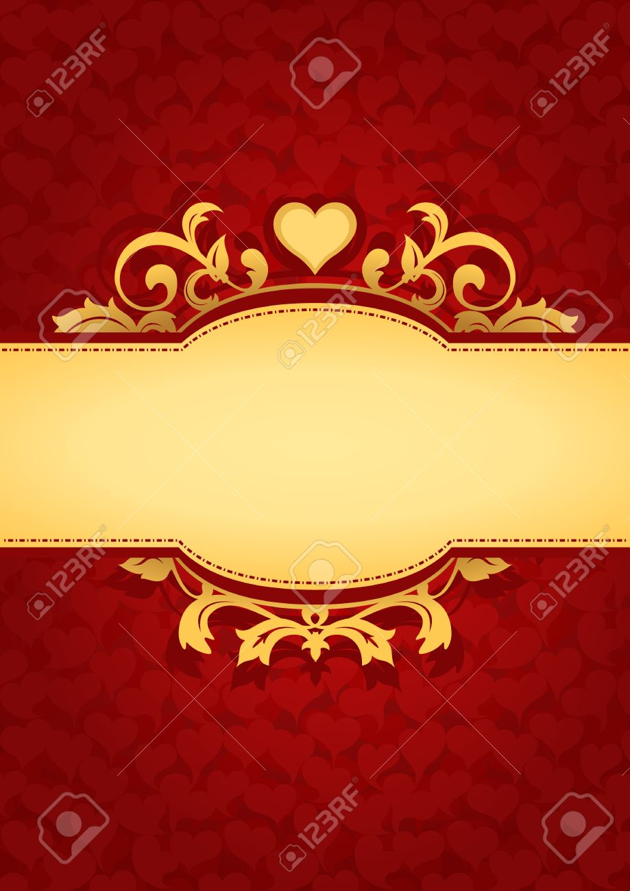 Love Hearts Banner Background Red Valentines Background Suitable