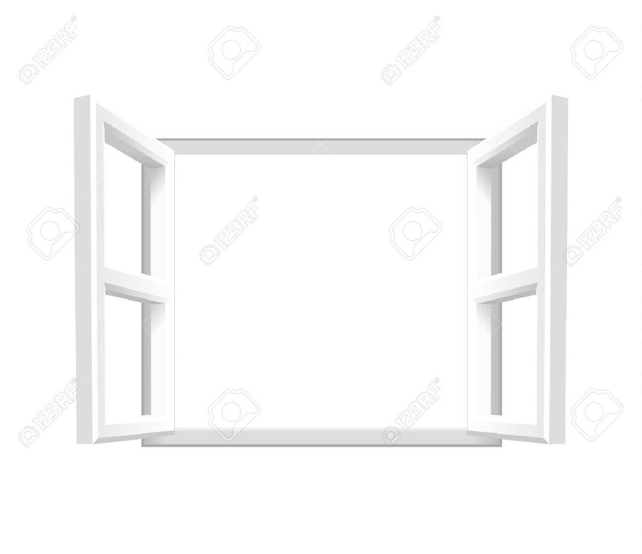 Plain White Open Window Add your own image or text. Vector illustration of an open window. - 44675990