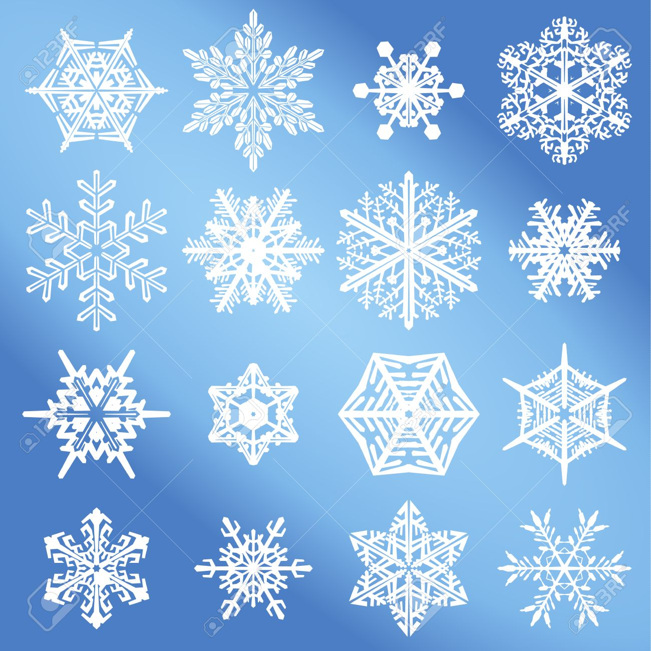 vector snowflake set an illustration collection of different