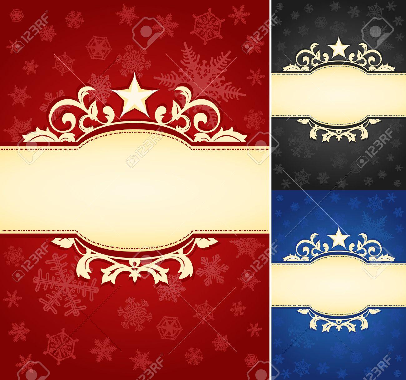 set of ornate christmas banner background a set of elegant christmas