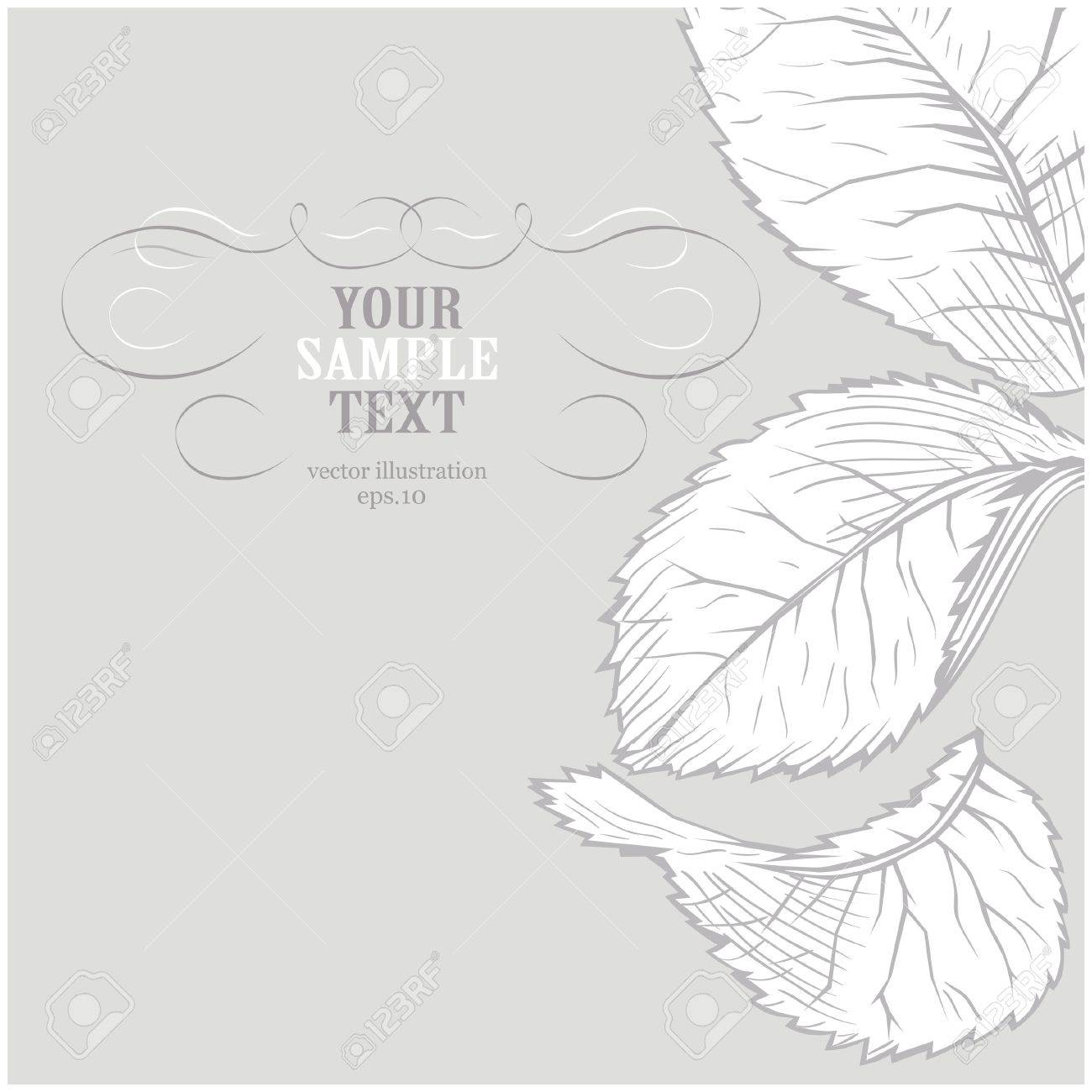Gray flower background Stock Vector - 8986458