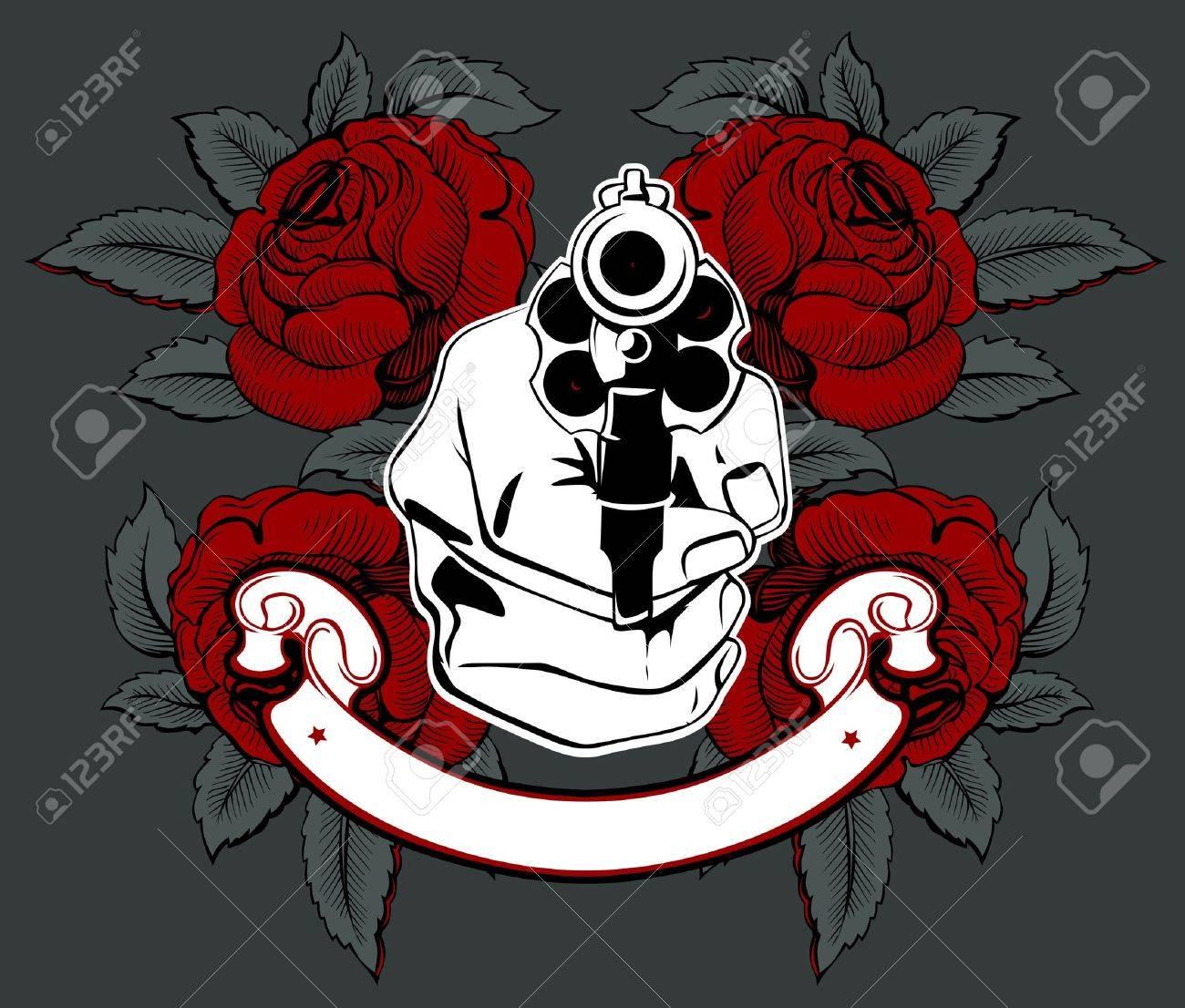 gun hand rose - 9462886