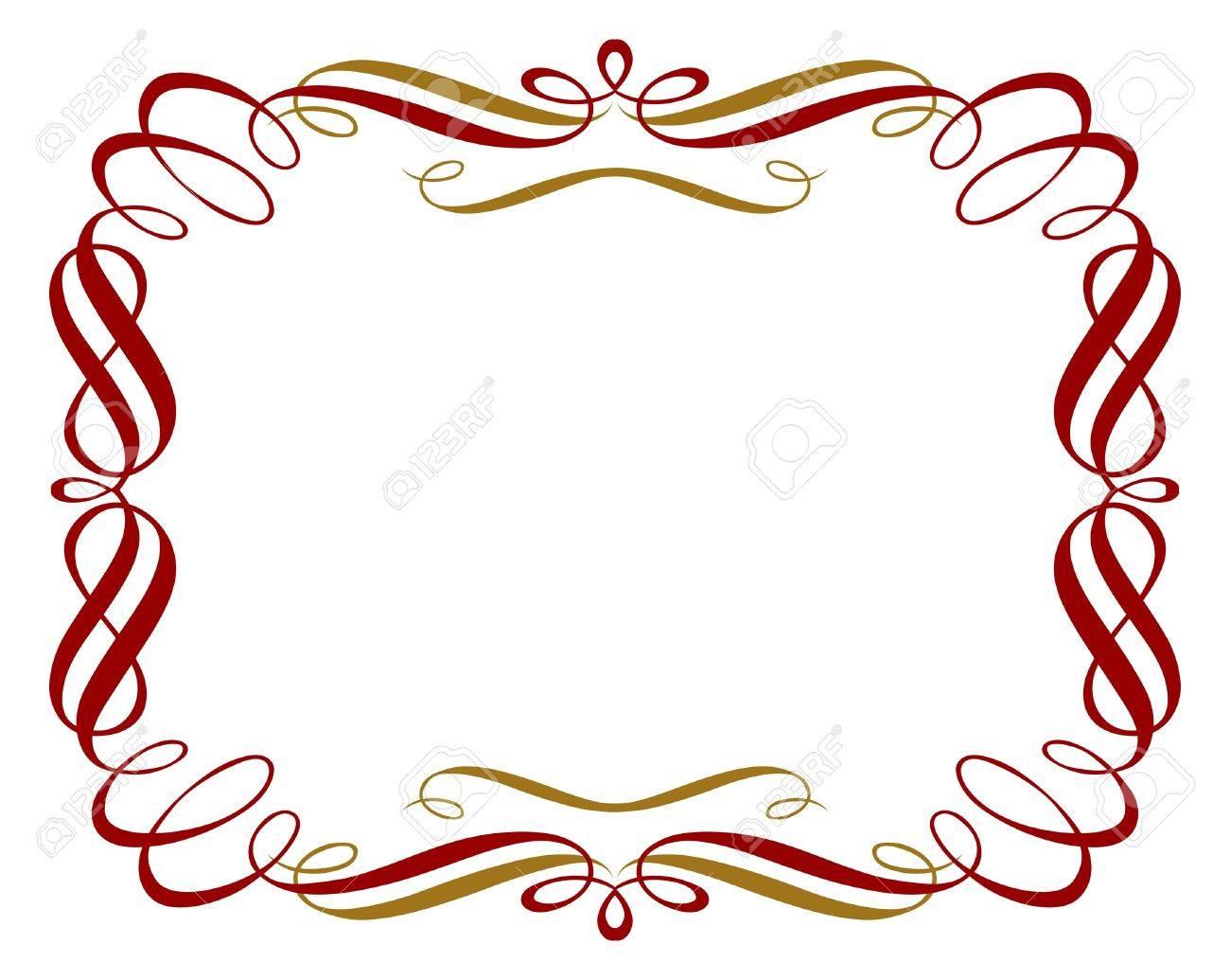 retro red gold border - 9462864