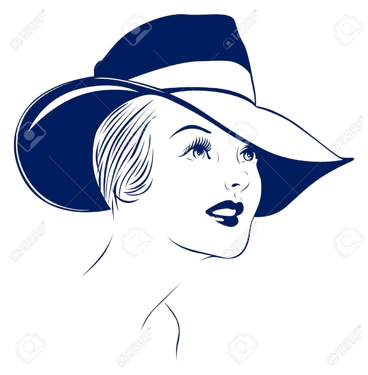 hat young women portrait - 9554777