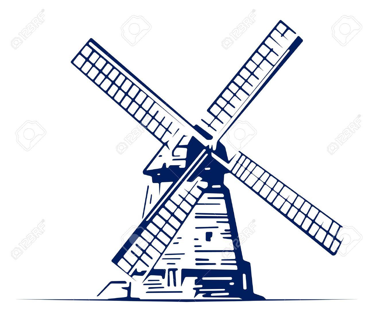 mill emblem Stock Vector - 9613153